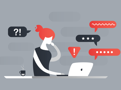 Receiving Feedback Like A Pro blog nicereply illustration flat grey support