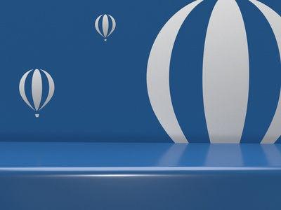 Business as light as a balloon brand mark.