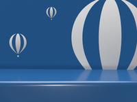 Business as light as a balloon brand mark.