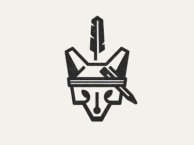 Dojo4 Fox Logo fox feather pencil illustration headband dojo4