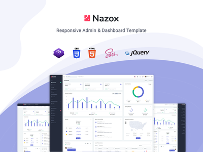 Nazox - React Admin & Dashboard Template responsive redux react admin react flat dashboard crm clean chat bootstrap backend