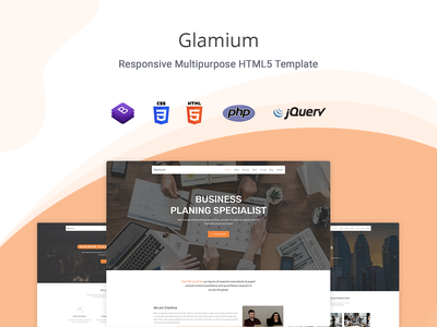 Glamium - One Page Multipurpose HTML5 Template portfolio multipurpose business multipurpose marketing investment finance consultant firm consultant clean business bootstrap 4