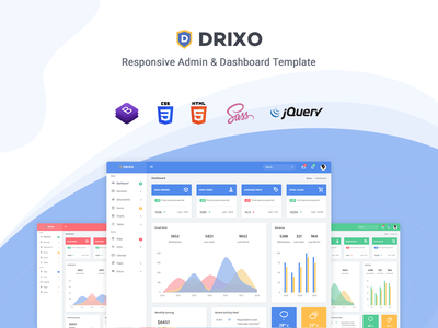 Drixo - Admin & Dashboard Template ui kit scss sass support responsive admin material design dashboard crm cms bootstrap 4 admin template admin dashboard