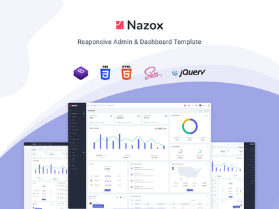 Nazox - Laravel Admin & Dashboard Template responsive laravel admin dashboard laravel jquery flat dashboard crm clean bootstrap admin template admin dashboard