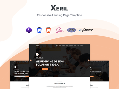 Xeril - React One Page Template startup product launch multipurpose marketing launch landing page creative corporate business bootstrap