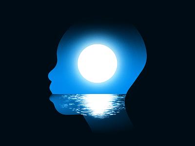 Moonlight oscars movie water sea landscape night moonlight moon horizon blue