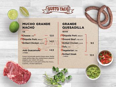 Mexican Restauran - Menu menu design food typography branding restaurant menu mexican