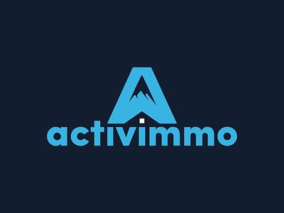 activimmo logo resort sky mountain alps estate real logo