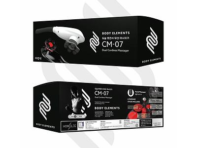 Wireless Massager Packaging package design logo branding elegant packaging box