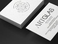 ARTGLAS Bcards lead glass business card bcard stamp monogram design monoline logo monoline debossing embossing typography monogram logomark stationery fre lemmens logo design eskader branding logo identity
