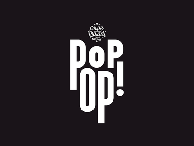 POPOPS by Coupe Matadi candy lollypop ice cream bold brutalism compressed condensed popping popup logo animation font vector stationery font design typeface logomark logo design branding logo identity