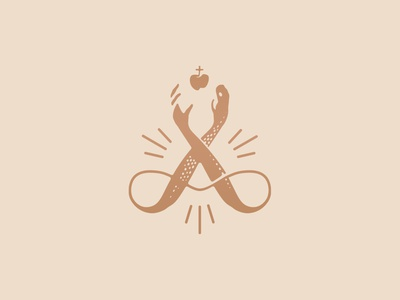 AERTS Paradijs (proposal) beer paradise loop animal art engraving liquor apple eden snake hands monogram logomark stationery logo design eskader branding illustration logo identity
