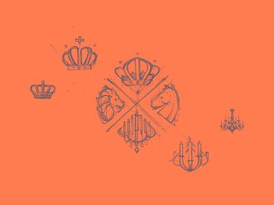 Paleis Het Loo study identity logo eskader fre lemmens aos aces of space heraldry royal apeldoorn loo paleis het loo