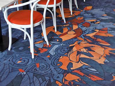 Paleis Het Loo pattern carpet identity logo eskader fre lemmens aos aces of space heraldry apeldoorn loo paleis het loo