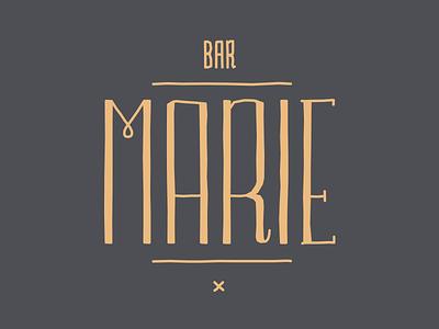 Bar Marie typeface font handwritten illustration mechelen fre lemmens eskader identity logo bar marie bar marie