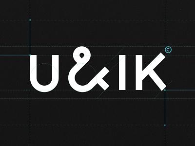 U&IK Logo Proportions fre lemmens eskader logomark grid design grid logo proportions ampersand stationary design stationery branding logo design font design typeface identity logo