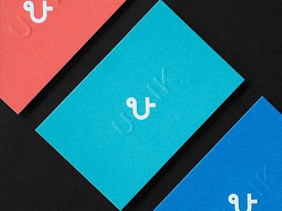U&IK Bcards fre lemmens eskader blind emboss embossing color block businesscard bcard print grid design grid logo proportions simple font design stationery design stationery branding logo design typeface identity logo
