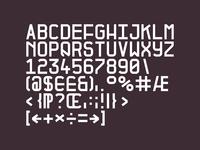 Plan-B Glyph set