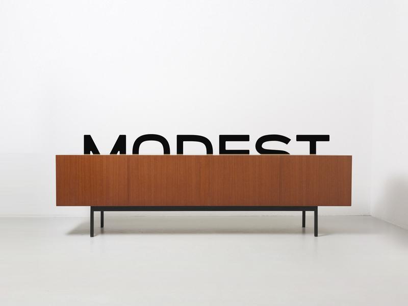 Modest Teaser vintage mono monospaced rebranding simple design minimal modest modernist modernism midcentury midcentury modern typography font design font logomark stationery logo design typeface branding identity