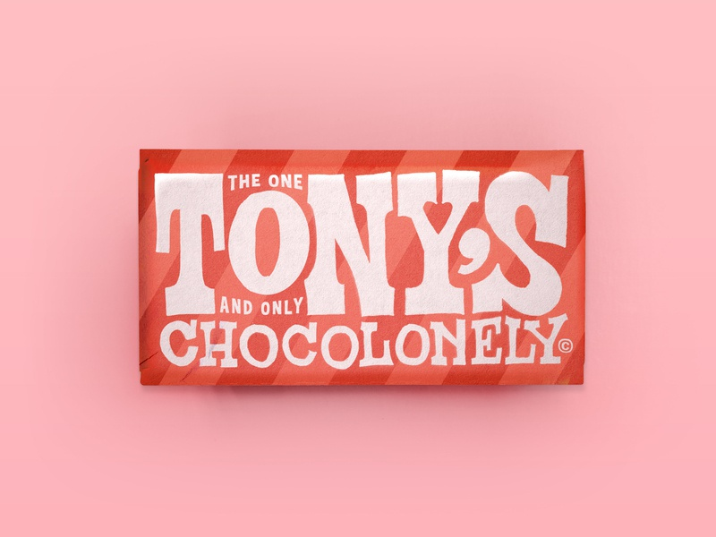 Tony's Chocolonely Redesign rebranding lettering vintage typogaphy hand lettering retro print packaging goofy label food wrapper chocolate packaging chocolate bar
