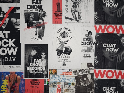 FAT CHOW Posters street style wall graphic wall art plakat restaurant hong kong diy pseudo poster art poster urban art urban street art street chinese culture chinese branding brand identity asian food asian
