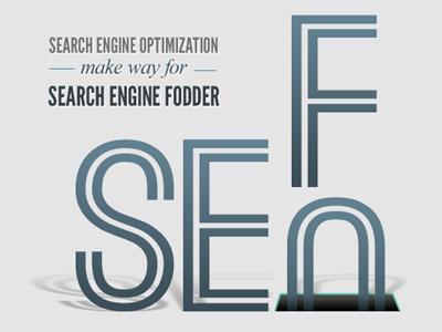 Search Engine Fodder blog header dimensional type shadows