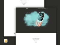 Phone landing page (Sketch Freebie 🙌 ) /01