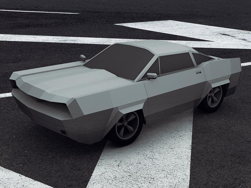 Lowpoly car 01