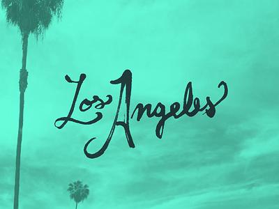 LA pen ink analog lettering typography type los angeles la handwriting text