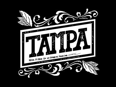 Tampa lettering typography type illustration florida tampa print tee