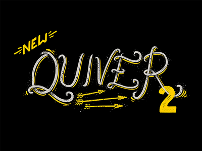 Quiver 2 procreate sign americana vintage arrows lettering drawn hand type promo script after effects