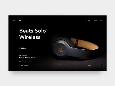 Beats Solo3 Wireless headset web design