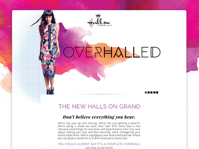 Overhalled micro-site ui ux web-design fashion halls kansas city kc