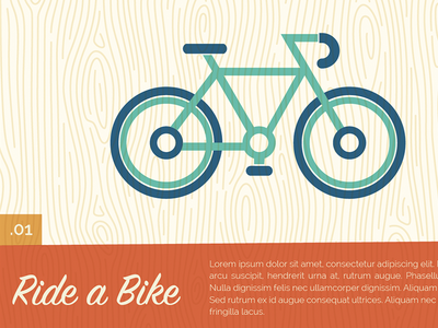 Summer activites microsite preview bike park vector website ui illustration kansas city ride