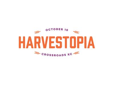 Harvestopia #2 harvesters script type branding logo kansas city
