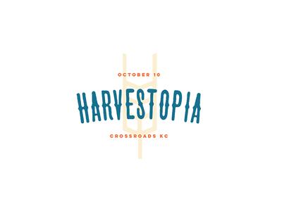 Harvestopia #3 harvesters script type branding logo kansas city