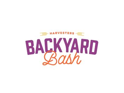 Backyard Bash harvesters script type branding logo kansas city