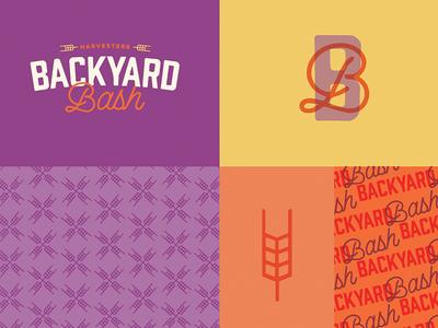 Backyard Bash Exploration harvesters script type branding logo kansas city