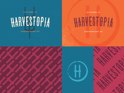 Harvestopia #3 Branding Exploration harvesters script type branding logo kansas city