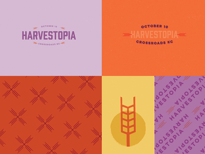 Harvestopia #2 Branding Exploration harvesters script type branding logo kansas city