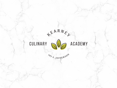 Kearney Culinary Academy branding leaf academy chef cook culinary kearney kcmo kansas city logo branding