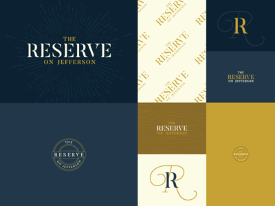Reserve Branding - Exploration dine shop bistro antiques cafe kearney wordmark logotype logo branding