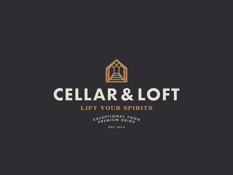 Cellar & Loft church kearney wine cellar wine bar restaurant kansas city logo branding brand