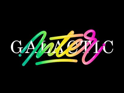 Intergalactic lettering gradient color font intergalactic tipe