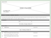 Flagship Homepage and Agenda Wireframe