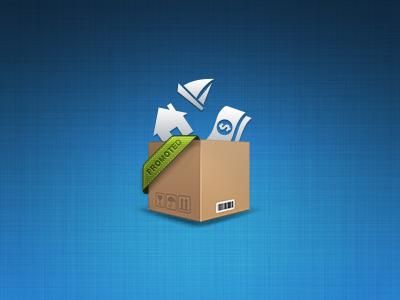 N360 Promobox  promo icon promotion web box house ship dollar money corner