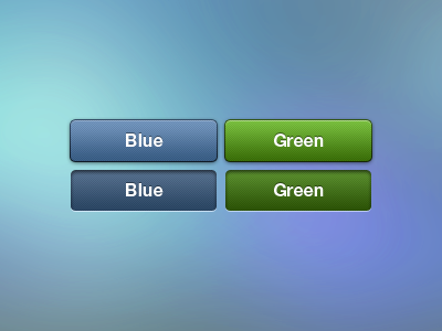 Buttons Set button pressed buttons ui mobile blue green news360