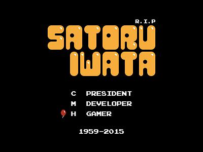 Thankyou Mr Iwata game pixel nintendo iwata