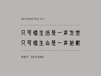 Pcc011 type pixel lyric chinese character