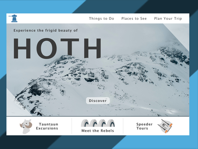 DailyUI 003 Landingpage Hoth empire strikes back star wars landing page hoth dailyui